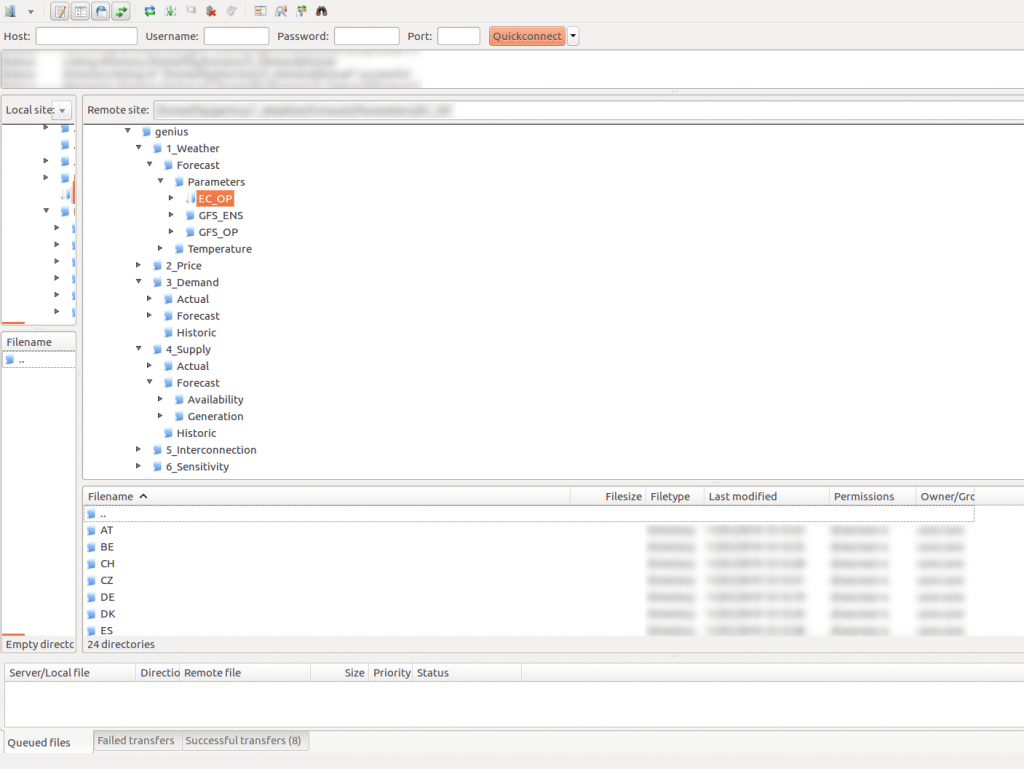 Illustration of the Genius FTP / Python interface